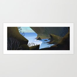 Looking Into The Ocean Art Print