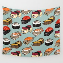 Sushi Otter Wall Tapestry