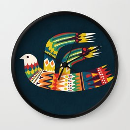 Native Bird Wall Clock