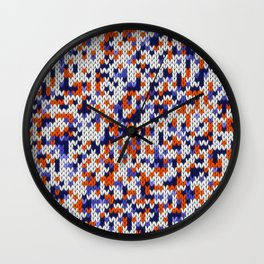 Knitted multicolor pattern 4 Wall Clock