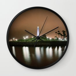 The Light of Long Beach Wall Clock