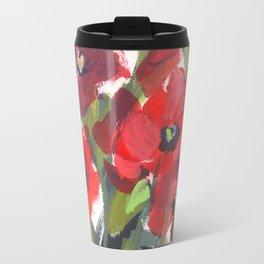 Wild Red Poppies Travel Mug