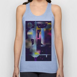 60s Mod Spaceship Abstract Unisex Tank Top