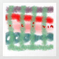 olivia's art 2 Art Print