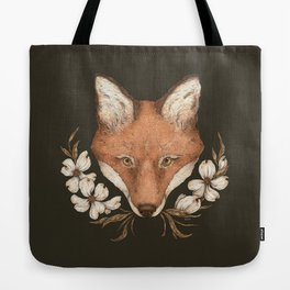 The Fox and Dogwoods Tote Bag