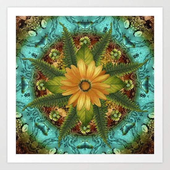 Floral Kaleidoscope 3 Art Print