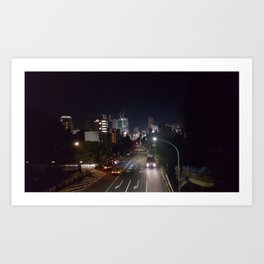 Late Night Shibuya // City Skyline Streets Art Print