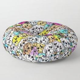 Gemstone Pugs Dogs Floor Pillow