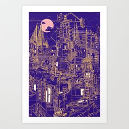 San Francisco! (Night) Art Print