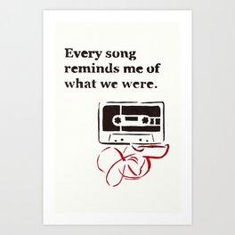 Love Mix Tape Art Print