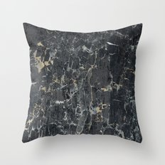 Old black marBLe Throw Pillow
