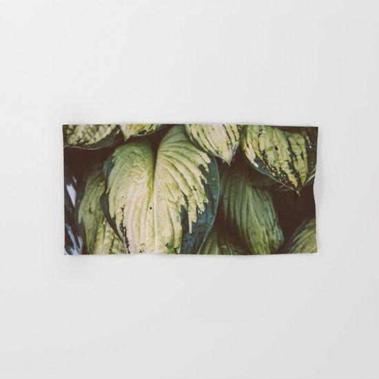 Natural Leaves Pattern Hand & Bath Towel