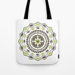 Heart Mandala – Green Tote Bag