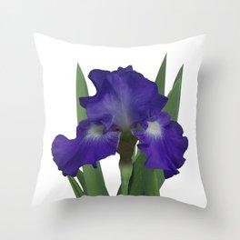 Stellar Lights, Deep blue-violet Iris Throw Pillow