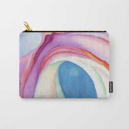 Poster-Georgia O'Keeffe-Pink and Blue. Carry-All Pouch