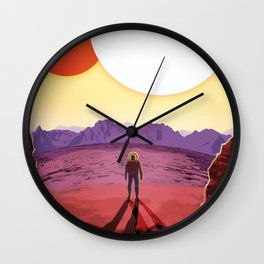 Visions of the Future - Kepler 16-b (Where your Shadow Always has Company) Wall Clock