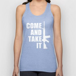 Come and Take it with AR-15 inverse Unisex Tank Top