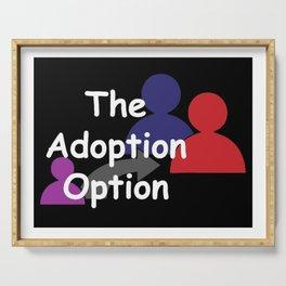 """The Adoption Option"" TV Show Logo Serving Tray"