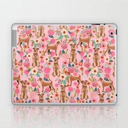 Irish Terrier florals dog breed pet pattern dog art pet friendly terriers portrait Laptop & iPad Skin