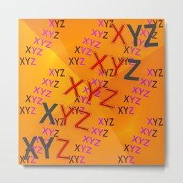 XYZ - pattern Metal Print