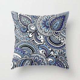 Ornamental Mandala Throw Pillow