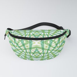 Through the Ferns - a Geometric Abstract Fanny Pack
