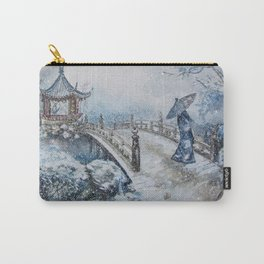 Snowstorm (Winter) Merry Christmas Carry-All Pouch