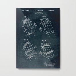 1961 - Football glove patent art Metal Print