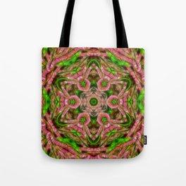 Vibrant surreal wattle kaleidoscope Tote Bag