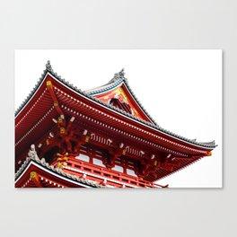 Temple Detail Canvas Print