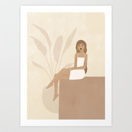 callie feminine illustration Art Print