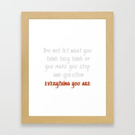 Carrie Fisher Question Quote Framed Art Print