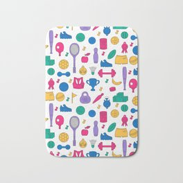 Sport doodles pattern Bath Mat