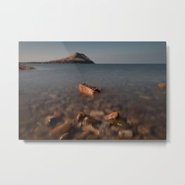 Worms Head Gower Metal Print