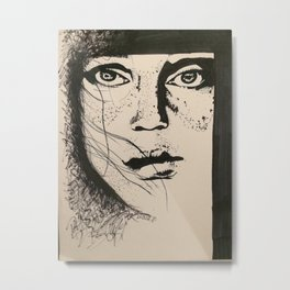Freckle Face Metal Print