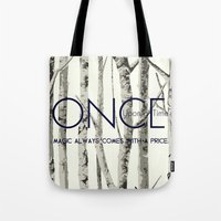 ouat Tote Bags featuring Once Upon a Time (OUAT)  by Canis Picta