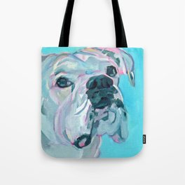Bella the White Boxer Girl Tote Bag