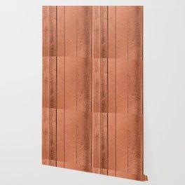 Rose gold antique wood Wallpaper