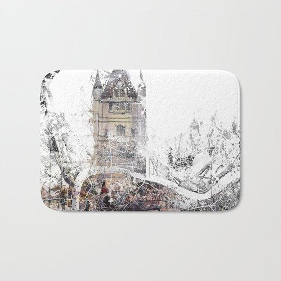 London map - Tower Bridge painting Bath Mat