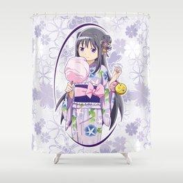 Homura Akemi - Yukata edit. (rev. 1) Shower Curtain