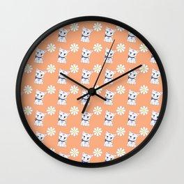 Floral Bella repeat Wall Clock