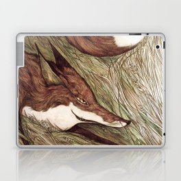 La Ruse du renard (The Sneaky Red Fox) Laptop & iPad Skin
