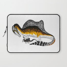 Spinosaurus mother and juvenile Laptop Sleeve