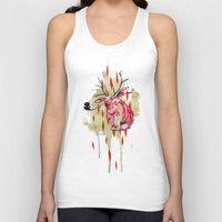 jackalope Tank Tops featuring Jackalope by Manfish Inc.