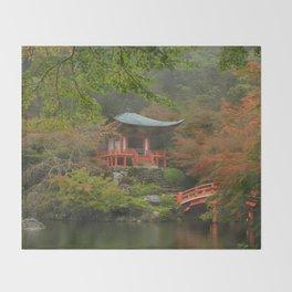 Hidden Japanese Temple Throw Blanket