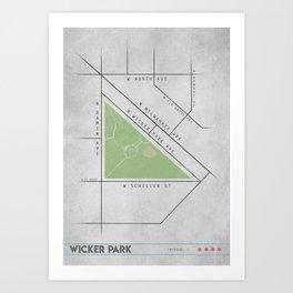 Parks of Chicago: Wicker Park Art Print