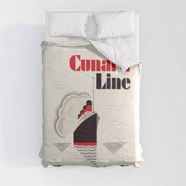 Cunard Line art deco style Comforters
