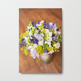 Bridal freesia bouquet wedding flowers Metal Print