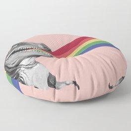 T-Rex Rainbow Ray Blast in Pink Floor Pillow