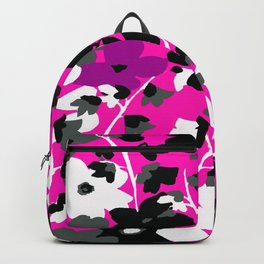 SUNFLOWER TOILE PINK BLACK GRAY WHITE PATTERN Backpack
